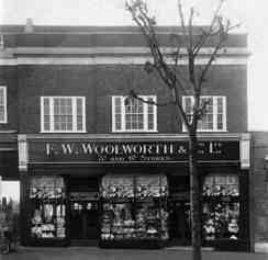 The F. W. Woolworth & Co. Ltd. 3D and 6D Store in Stafford Road, Wallington, which was 600th to open in the United Kingdom. It traded from 1934 until the collapse of the parent company in 2008