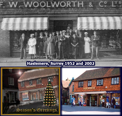 A jewel in the Woolworths crown - the Haslemere store in Surrey, which opened in 1952 and continued to prosper until the whole chain got into difficulties in 2008