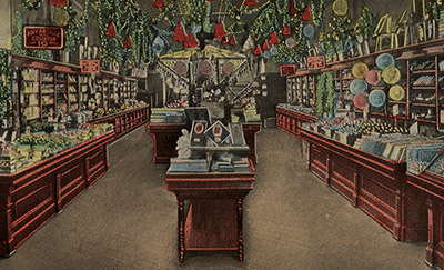 The Xmas displays at Woolworth's a century ago. New Albany, Indiana, USA in the 1910s