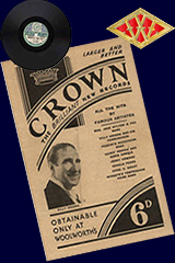 A brochure promoting Crown Records for sixpence in 1935