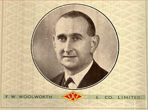 Herbert Cue, who started his career like many a Woolworth man sweeping the Stockroom Floor, became the Superintendent for the London Area of Stores before moving to Executive Office as Textile Buyer.  It was Cue who first signed up the Pasold Company (later Ladybird) as a Woolies supplier.