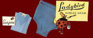 Kiddies Wear from Ladybird - original artwork from the early days of the brand when Pasolds first moved the factory to England