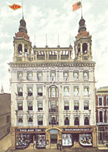 The original Woolworth skyscraper - Frank's six story development in North Queen Street, Lancaster, Pennsylvania, USA, pictured in 1905