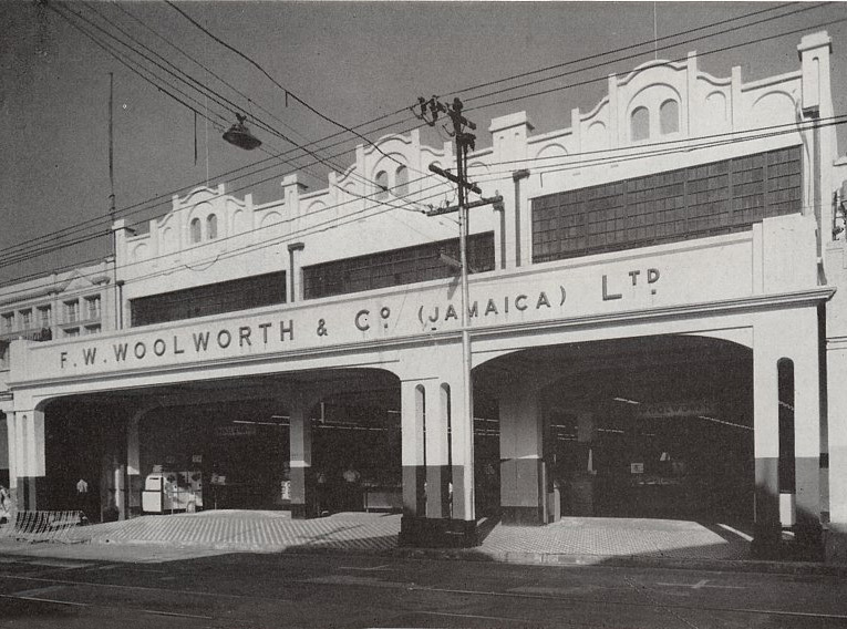 The first Commonwealth Woolworths - King Street, Jamaica pictured the day before opening on 4th November 1954.  It looks remarkably similar to the initial artist's impression