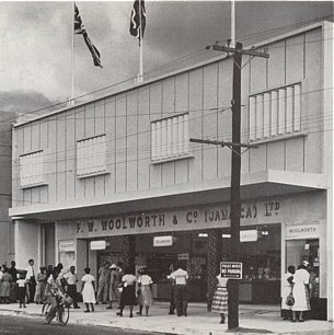 A second Woolworths for Kingston Jamaica in Slipe Road, pictured in the late 1950s
