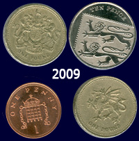 Two pounds and eleven pence in 2009, which statistically has the same value as sixpence a century earlier
