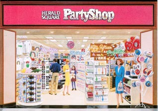 The longstanding Woolworth stationery brand 'Herald Square' was translated into a Cards and Party store for shopping malls, with twenty stores trading by 1990