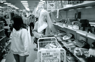 A staged artistic photograph marking the closure of the long-serving Woolworths store in San Francisco