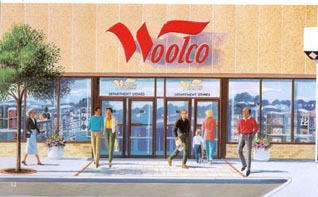A Woolco Canada store, pictured in 1989
