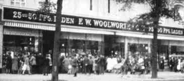 The Woolworth five-and-ten formula was adapted to 25 and 50 pfennigs when the chain opened a subsidiary in Germany in 1927