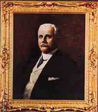 A portrait in oils of the dimestore pioneer Frank W. Woolworth, which for many years hung in the Board Room atop the Woolworth Building in Broadway Place, New York.