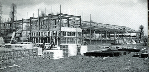 Building the Ladybird factory in Langley on the border of Berkshire and Buckinghamshire