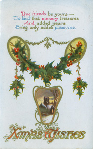 A Woolworths postcard-style Christmas Card from the 1920s