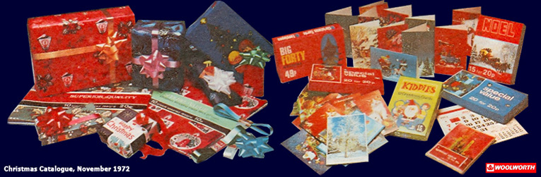 Woolworth Christmas Cards and Wrapping Paper from the 1970s, all carrying the Winfield own brand name